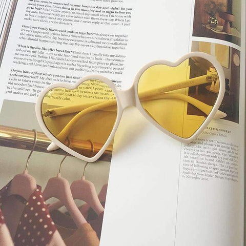 Candy Color Ombre Heart Shape Lens Sunglasses gallery 7