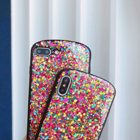 Glitter Colored Sequins Detail Phone Case for Samsung gallery 6