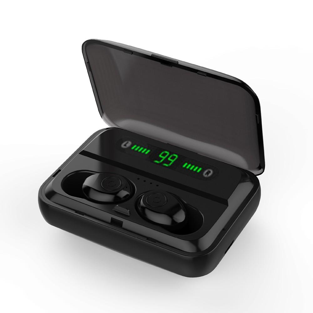 F9 Bluetooth 5.0 True Wireless Bluetooth Earphones TWS Earbuds Stereo Music Headphones IPX7 Waterproof Sport Headset with Mic Charging Box