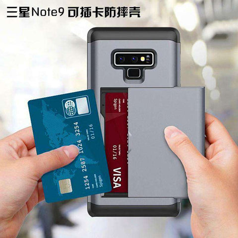 Samsung Galaxy Note 9 Pure Color Creative Phone Case With Card Holder gallery 12