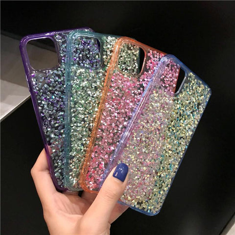 Four Colors Glittering Rhinestone Phone Case for Samsung with Phone Holder gallery 7