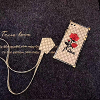 Rose Embroidered Iphone Case