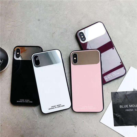 Pure Color Mirror iPhone Case