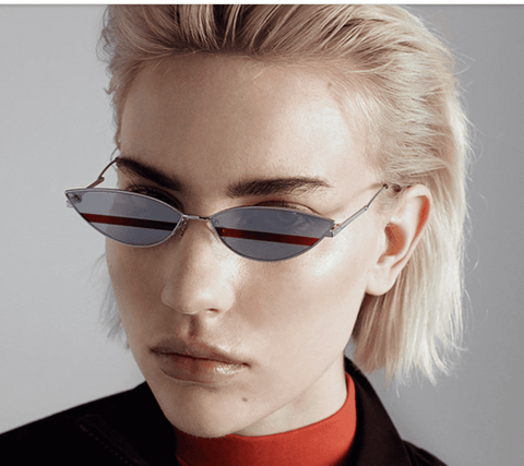 Premium Chic Narrow Oval Shape with Metal Frame Sunglasses gallery 14