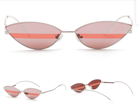 Premium Chic Narrow Oval Shape with Metal Frame Sunglasses gallery 4