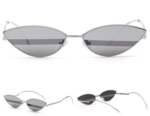 Premium Chic Narrow Oval Shape with Metal Frame Sunglasses gallery 5