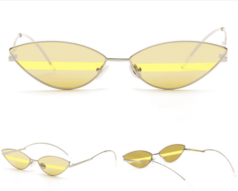 Premium Chic Narrow Oval Shape with Metal Frame Sunglasses gallery 3