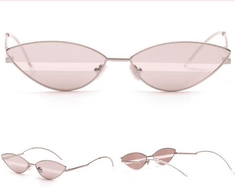 Premium Chic Narrow Oval Shape with Metal Frame Sunglasses gallery 2