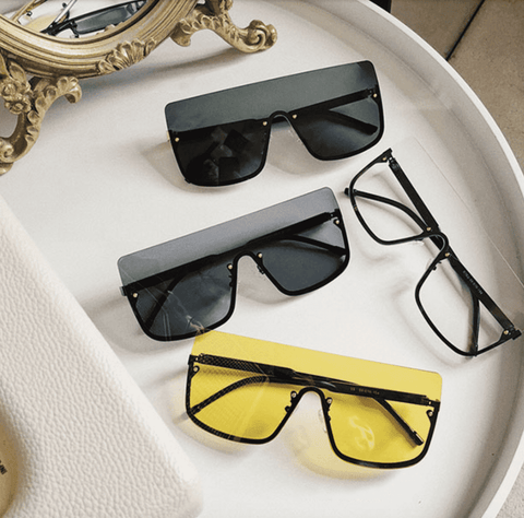 Chic Square Shape Windproof Lens with Half Frame Sunglasses gallery 1