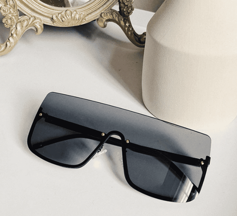 Chic Square Shape Windproof Lens with Half Frame Sunglasses gallery 4