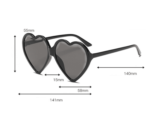 Candy Color Ombre Heart Shape Lens Sunglasses gallery 15