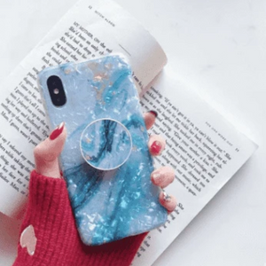 Blue Marble iPhone Case with Phone Holder