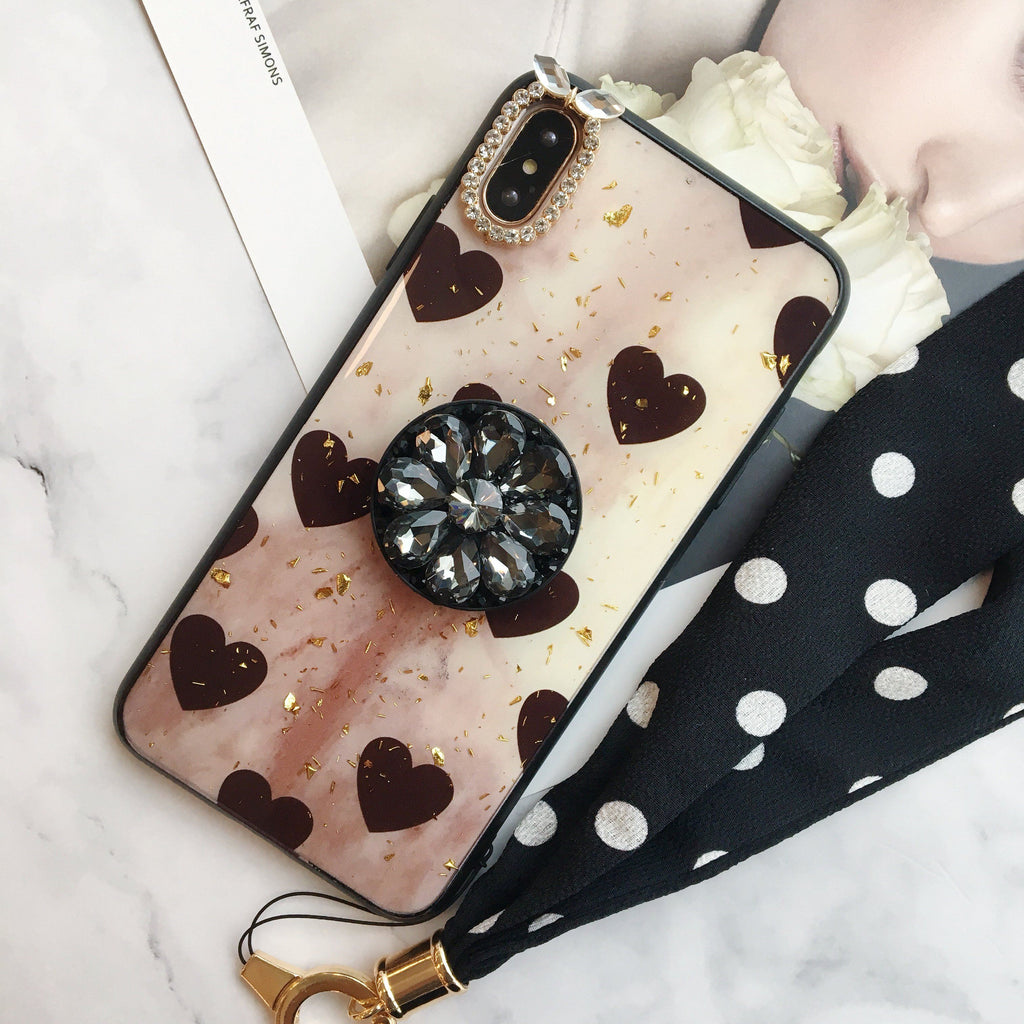 Polka Hearts Pattern Case For iPhone