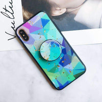 Color Geometric iPhone Case with Phone Holder