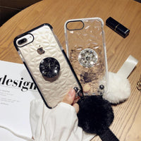 Korean Style Transparent Rhombus Pattern Gloss Silicone Gel Soft Case for iphone