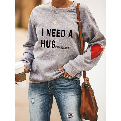 Drop Shoulder Slogan Graphic Sweatshirt