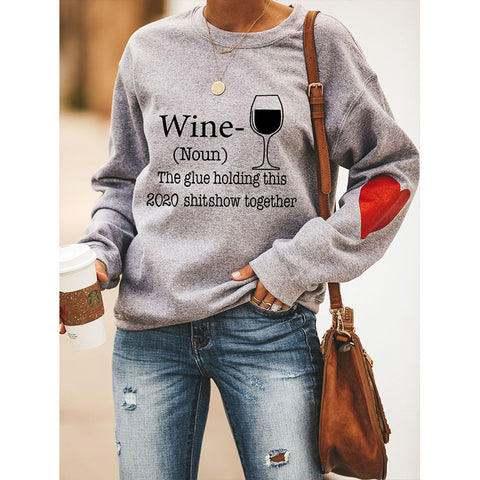 Slogan & Heart Graphic Drop Shoulder Sweatshirt