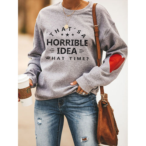 Drop Shoulder Letter Graphic Sweatshirt