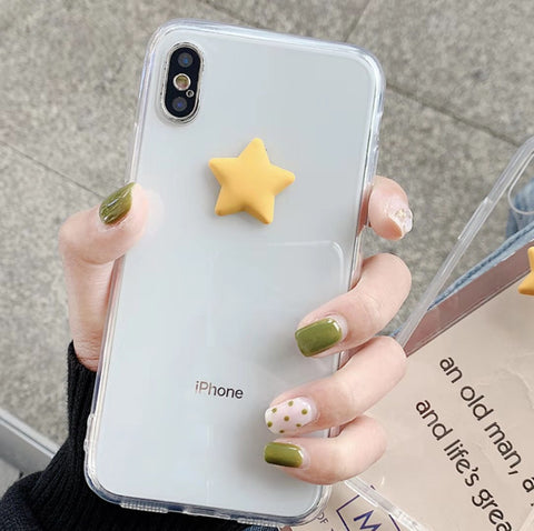 Transparent Silicone Stereo Star Phone Case for Samsung