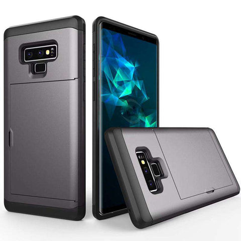 Samsung Galaxy Note 9 Pure Color Creative Phone Case With Card Holder gallery 2