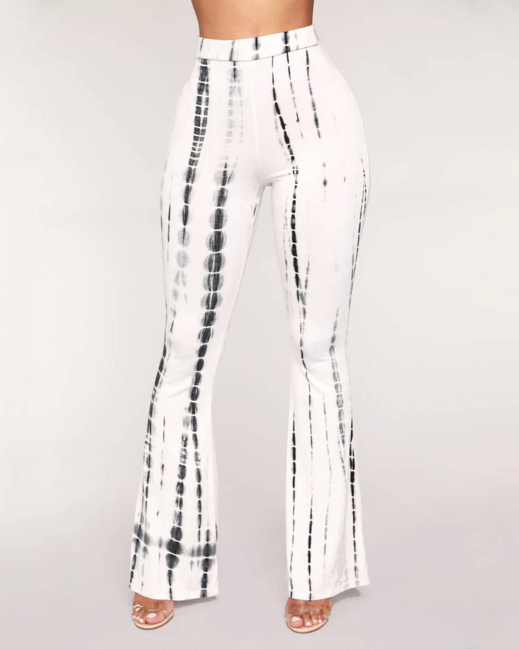 High Waist Printed Flare Pants