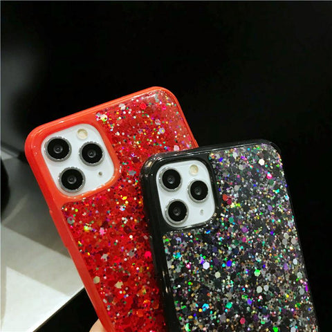 Luxury Sparkle Sequins Bling Shockproof Phone Case for Samsung gallery 10