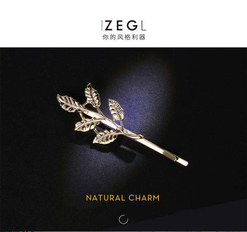 Gold Simple Flower Hair Pin gallery 6