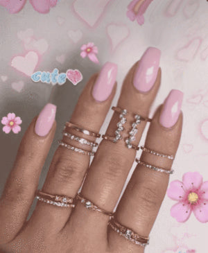Ballet Pink Magic Press On Nail Manicure