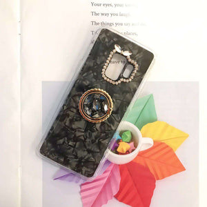 Glitter Foil Inside & Camera Protect With Rhinestone Side Phone Case for Samsung