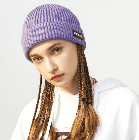 6 Colors Rib Knit Cuffed Beanie Hat With Tag gallery 3
