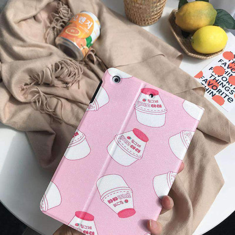 Contracted Milk Bottle Painted Apple iPad Cover Case gallery 3