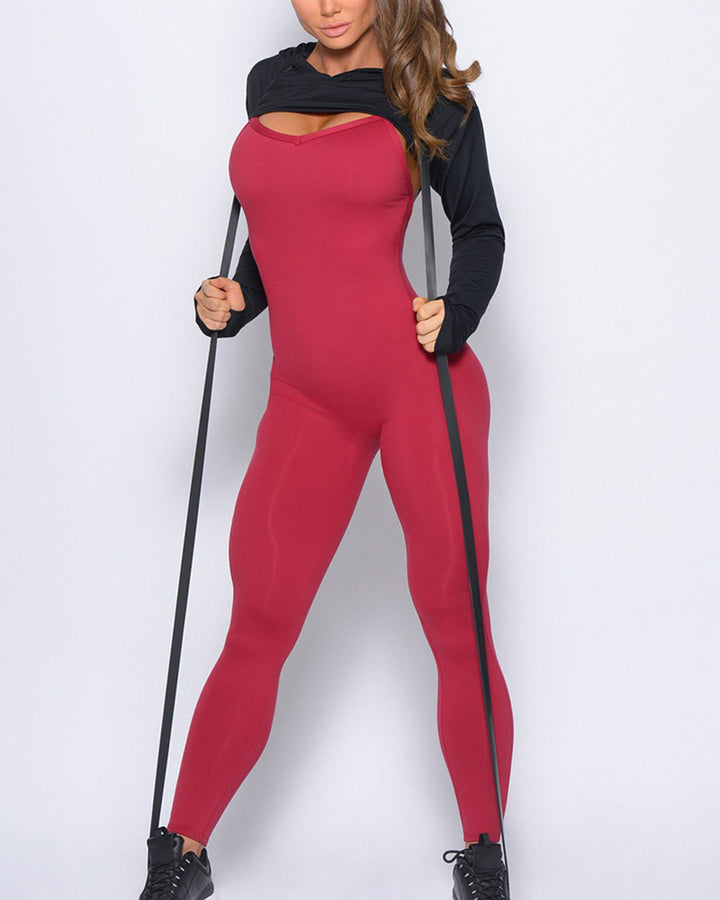 Criss Cross Cut Out Back Sports Jumpsuit gallery 22