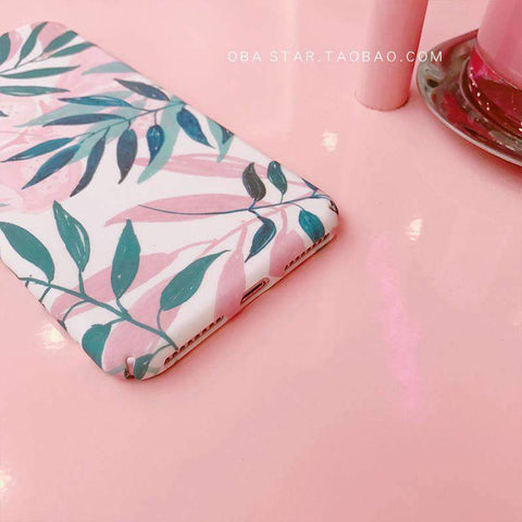 Pink Summer Vibe Leaf iPhone Case gallery 5