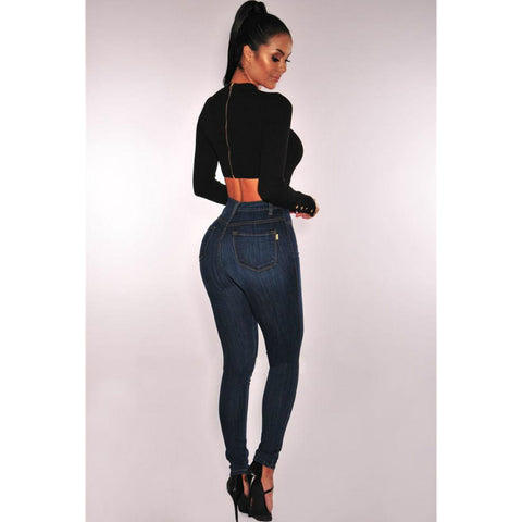 Plus Size High Rise Button Front Skinny Jeans