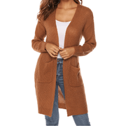 5 Colors Pocket Front Detail Knitted Cardigan