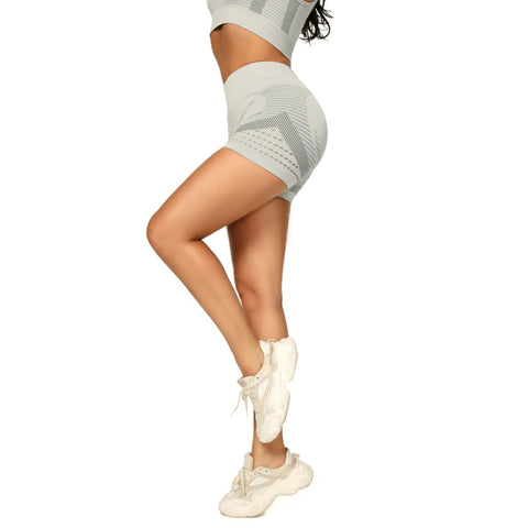 Contrast Hollow Out Seamless Sports Shorts gallery 6