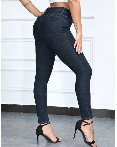 Super Stretch Solid Skinny Jeans