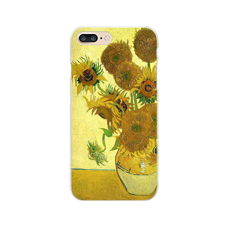 Van Gogh's Sunflower Painting Print Phone Case For All iPhone