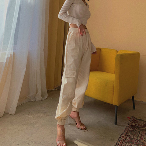 High Waist Straight Leg Cargo Trousers gallery 8