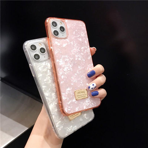 Four Colors Marble Shining Phone Case for Samsung gallery 8