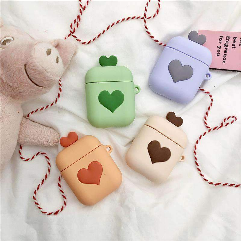 Heart Print Silicone Protective Cover Case  for Apple AirPods 2