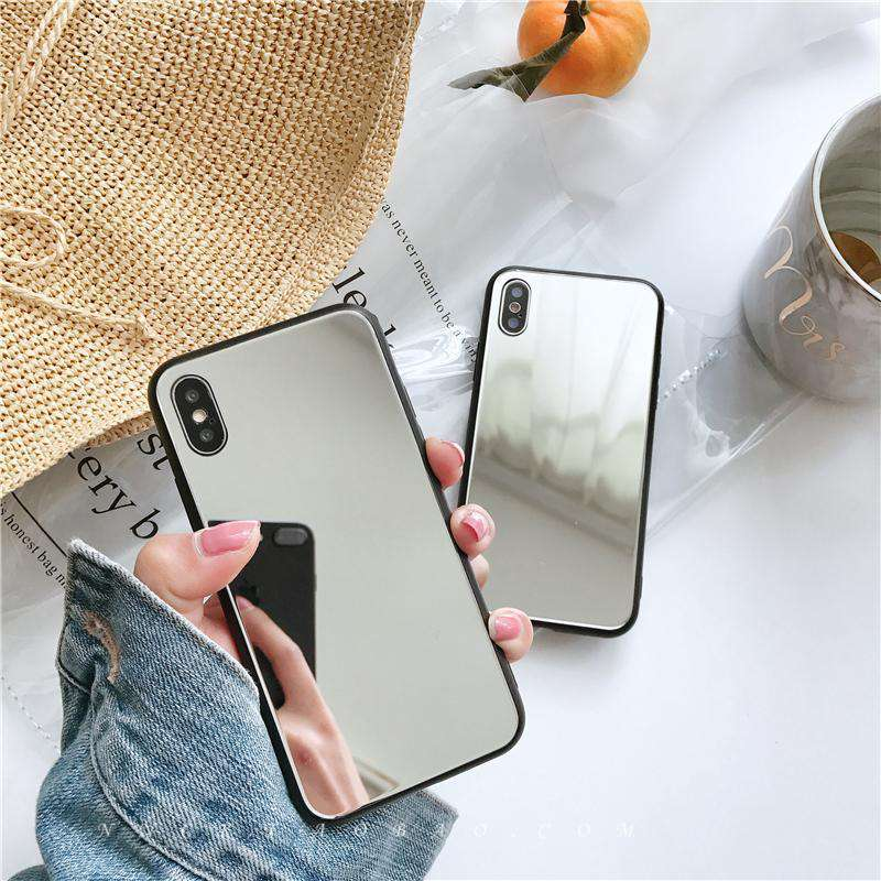 Black Edge Mirror iPhone Case