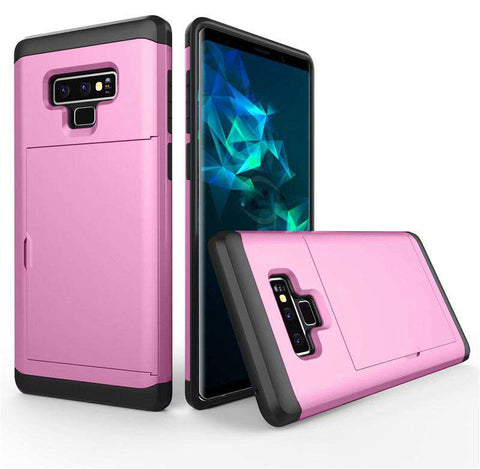 Samsung Galaxy Note 9 Pure Color Creative Phone Case With Card Holder gallery 9