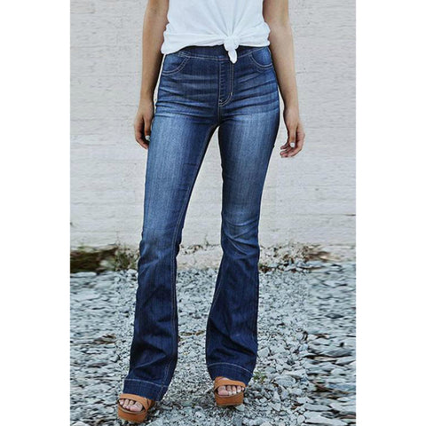 Slim Fit High Rise Flare Leg Jeans