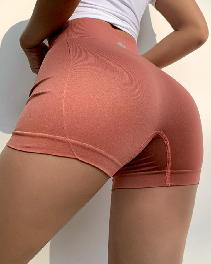 Letter Print Wide Waistband Stitch Trim Sports Shorts gallery 14