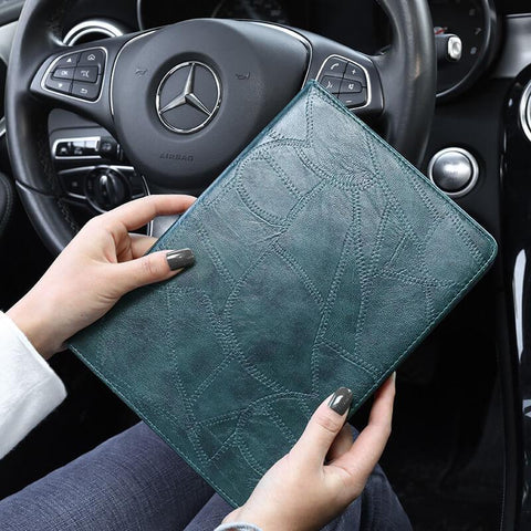 Faux Leather Foldable iPad Cover Case gallery 1