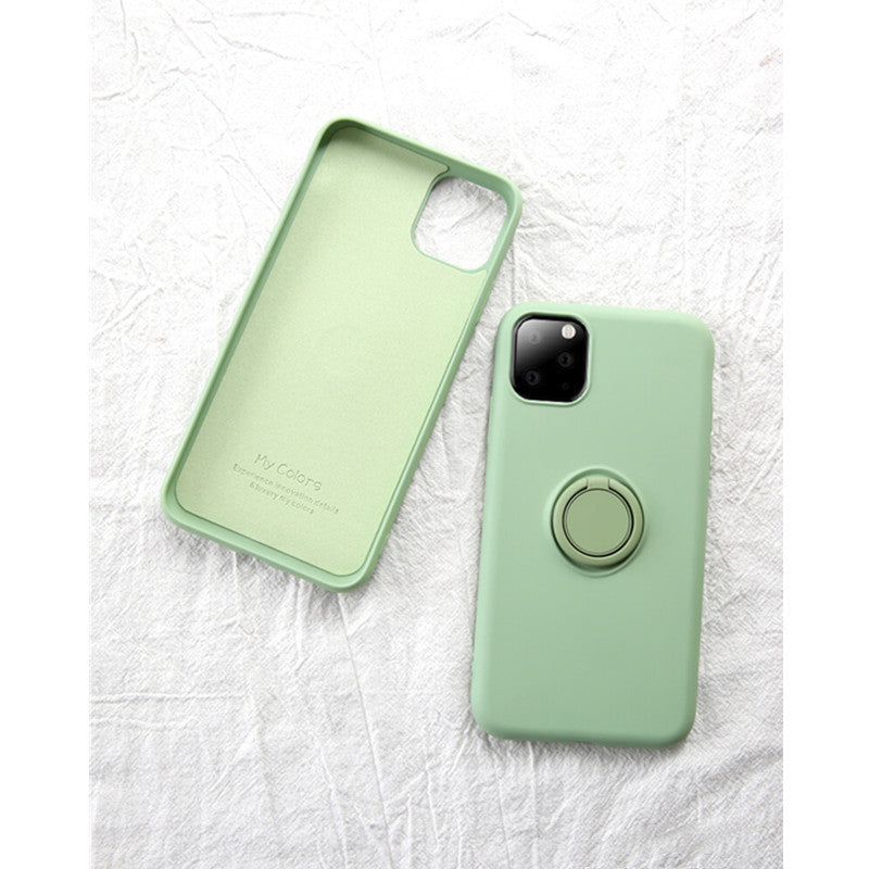 Sage Soft Liquid Silicone iPhone Case with Phone Holder