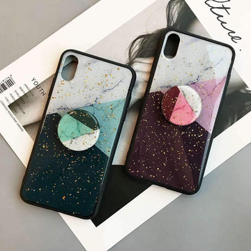 Blinking Geometric Pattern Phone Case for Apple iPhone with Phone Holder