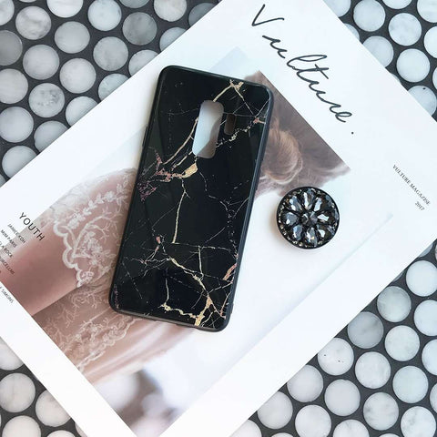Luxury Marble Pattern Phone Case for Samsung with Phone Holder gallery 6