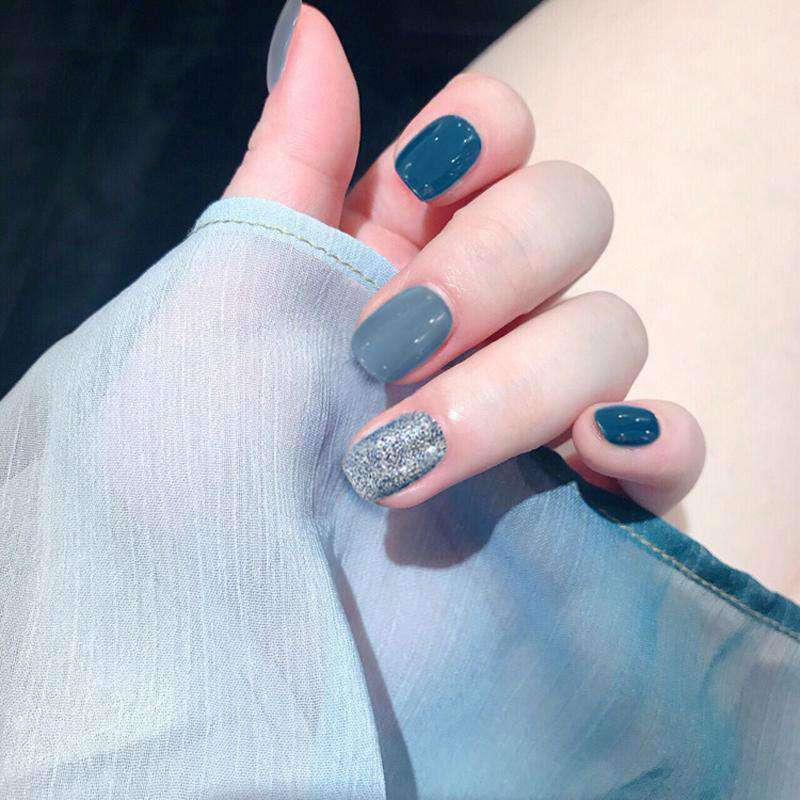 Blue Shore Magic Press On Nail Manicure
